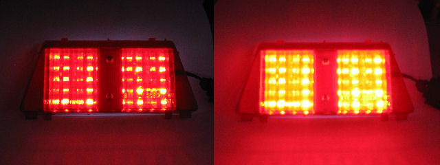 RVF400 VFR400 LED brakelight, on-off comparison